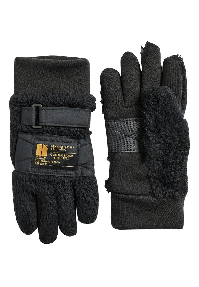 BLACK FLEECE GLOVES (OLDER) - Gloves - black