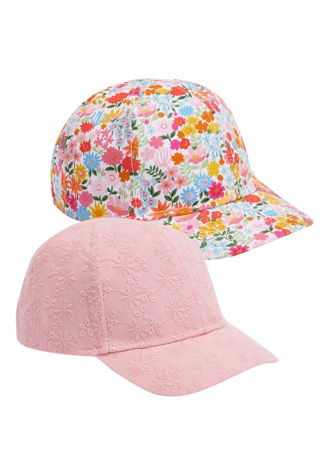 PINK BRODERIE/DITSY 2 PACK CAPS (YOUNGER) - Cap - pink