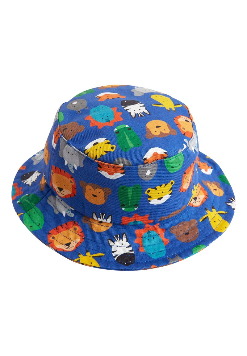 Next - MULTI ANIMAL ALL OVER PRINT FISHERMAN'S HAT (YOUNGER) - Hat - blue