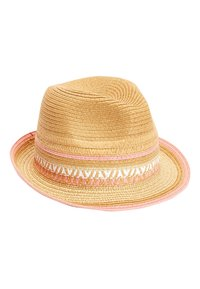 Next - STRAW PINK TRIM TRILBY (OLDER) - Hat - beige - 0