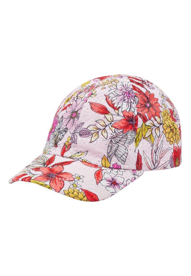 RUST/ECRU FLORAL CAP (OLDER) - Cap - pink