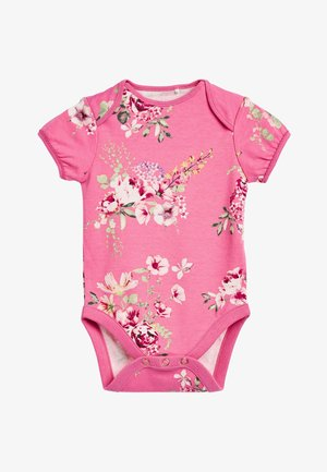 PINK 3 PACK FLORAL SHORT SLEEVE BODYSUITS (0MTHS-3YRS) - Body - pink
