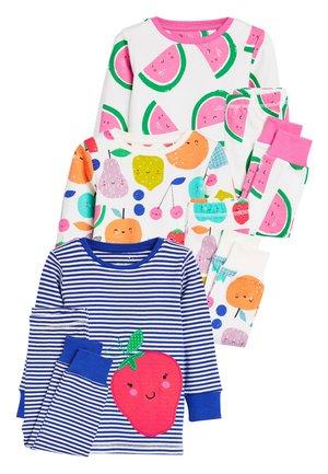 MULTI 3 PACK FRUIT SNUGGLE PYJAMAS (9MTHS-8YRS) - Pyjama set - blue