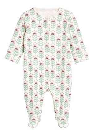GREEN 3 PACK FLORAL SLEEPSUITS (0MTHS-2YRS) - Grenouillère - green