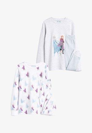 "GREY/ECRU 2 PACK DISNEYÂ""¢ FROZEN SNUGGLE PYJAMAS (2-10YRS) - Pijama - off-white"