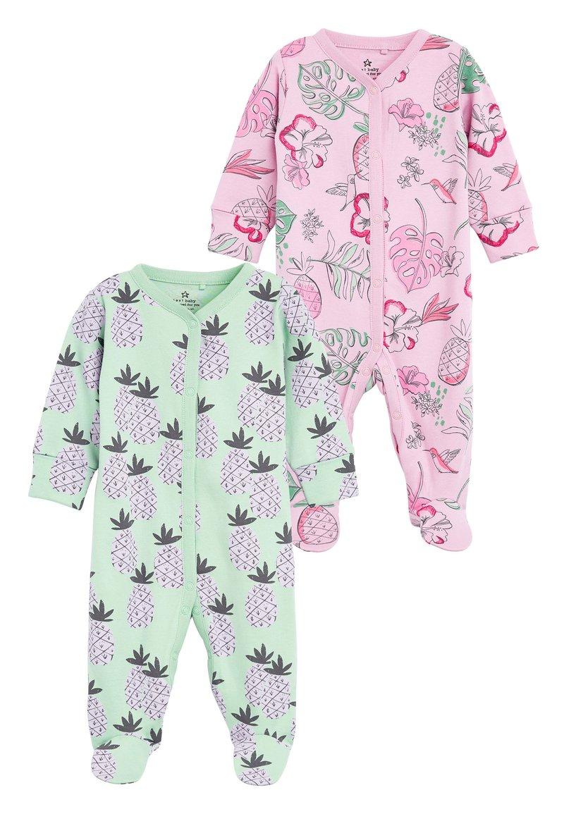 Next - LILAC 2 PACK PINEAPPLE FLORAL SLEEPSUITS (0MTHS-2YRS) - Pyžamo - purple