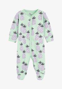 Next - LILAC 2 PACK PINEAPPLE FLORAL SLEEPSUITS (0MTHS-2YRS) - Pyžamo - purple - 1