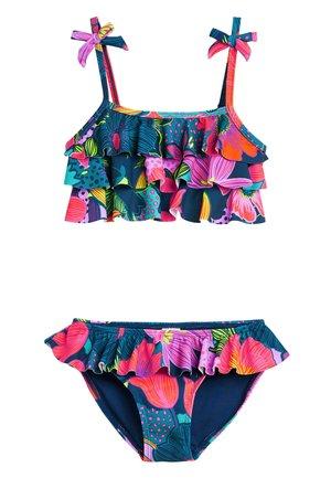 NAVY FLORAL FRILL BIKINI (3-16YRS) - Bikini - blue