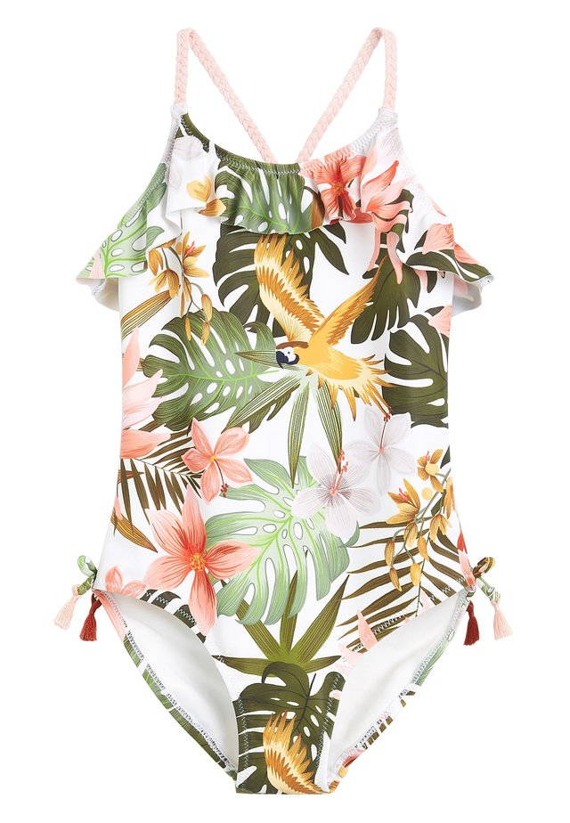 PALM PRINT SWIMSUIT (3-16YRS) - Swimsuit - green