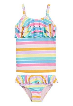 MULTI STRIPE TANKINI (3MTHS-7YRS) - Bikini - pink