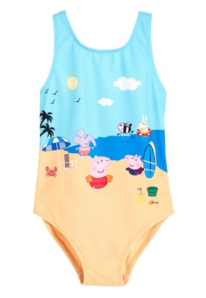 PINK/BLACK TIGER SWIMSUIT (3MTHS-7YRS) - Swimsuit - yellow