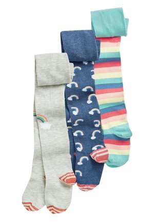 BLUE 3 PACK RAINBOW TIGHTS - Chaussettes hautes - blue