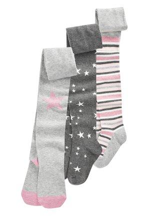 PINK/GREY 3 PACK STAR TIGHTS - Collants - grey