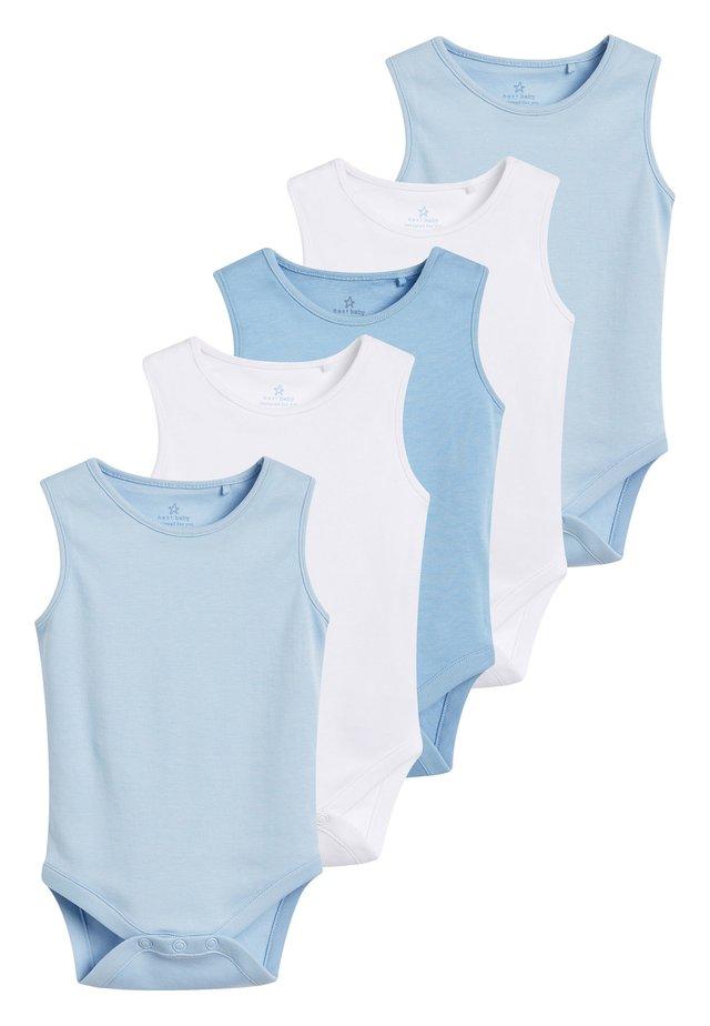BLUE 5 PACK GOTS ORGANIC COTTON VEST BODYSUITS (0MTHS-3YRS) - Body - blue