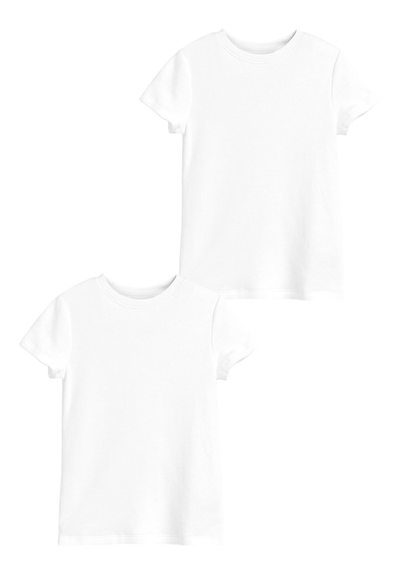 Next - WHITE 2 PACK SHORT SLEEVED THERMAL TOPS (2-16YRS) - Undershirt - white