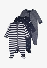 Next - STRIPE AND STAR 3 PACK - Pyžamo - navy/white - 0