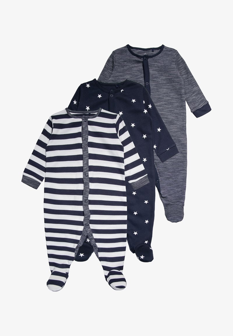 Next - STRIPE AND STAR 3 PACK - Pyžamo - navy/white