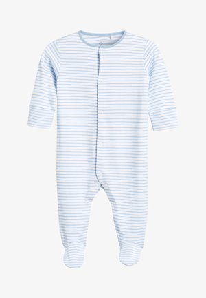 BLUE/WHITE 4 PACK ELEPHANT SLEEPSUITS (0-2YRS) - Pyjamas - blue