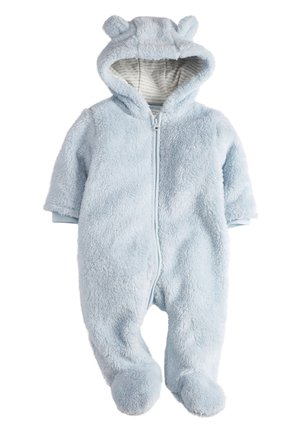 BLUE COSY FLEECE BEAR PRAMSUIT (0MTHS-2YRS) - Pyžamo - blue