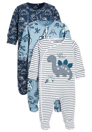 NAVY 3 PACK DINOSAUR SLEEPSUITS (0MTHS-2YRS) - Sleep suit - blue