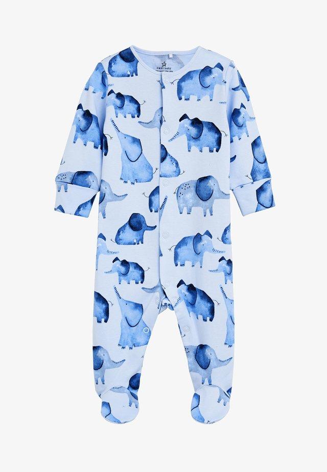 BLUE ELEPHANT SLEEPSUIT (0MTHS-2YRS) - Baby's sleeping bag - blue