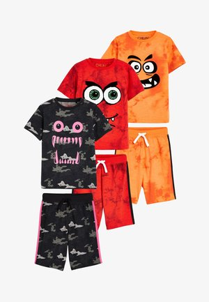 MULTI 3 PACK MONSTER FACE SHORT PYJAMAS (3-14YRS) - Pyjama - black
