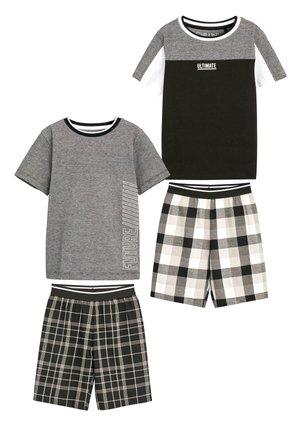 MONOCHROME 2 PACK CHECK SHORT PYJAMAS (3-16YRS) - Pijama - black
