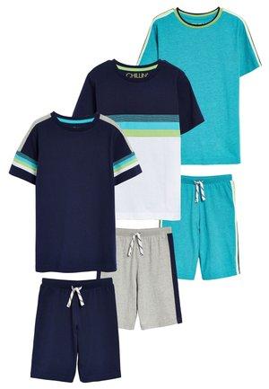 3 PACK  - Pantaloni del pigiama - blue
