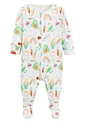 MULTI 3 PACK VEGETABLE PRINT SLEEPSUITS (0MTHS-2YRS) - Pyjama - off-white