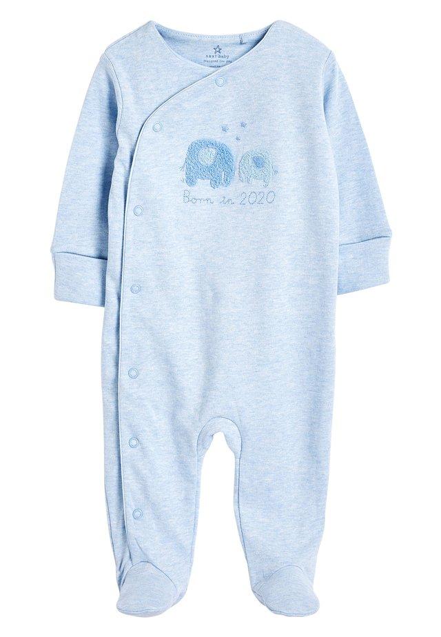 PALE BLUE BORN IN 2020 SLEEPSUIT (0-9MTHS) - Sleep suit - blue
