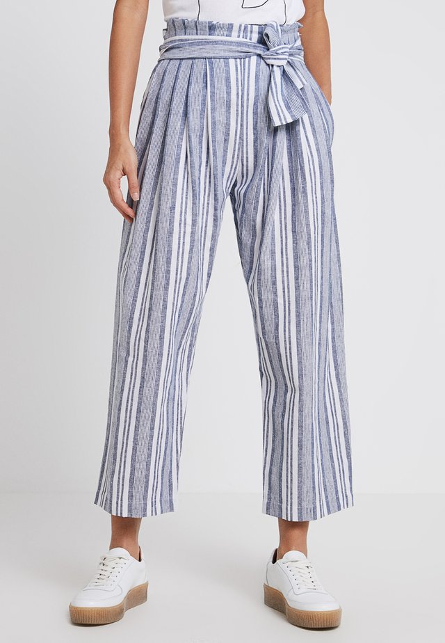 THE SOLANA PANT - Tygbyxor - blue/white