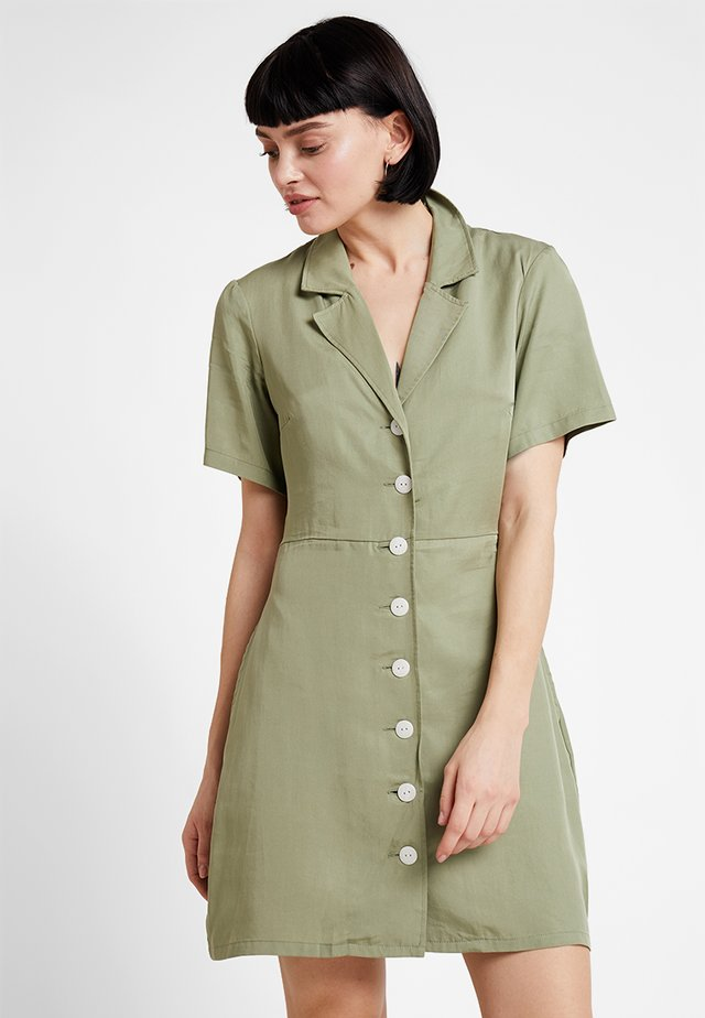THE SERENA DRESS - Shirt dress - sage