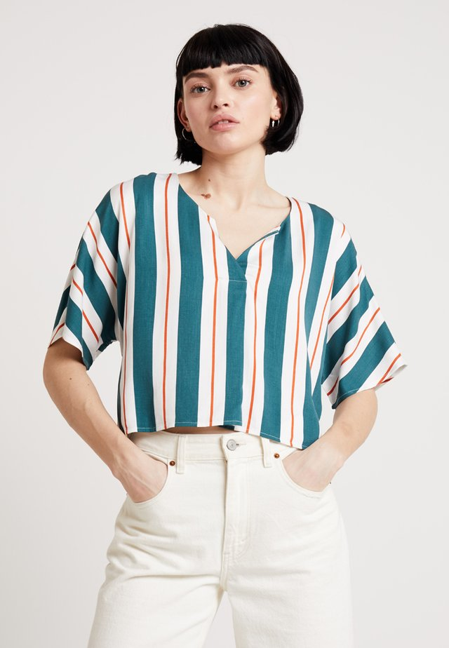 THE ERYKAH BLOUSE - Blouse - off white/teal