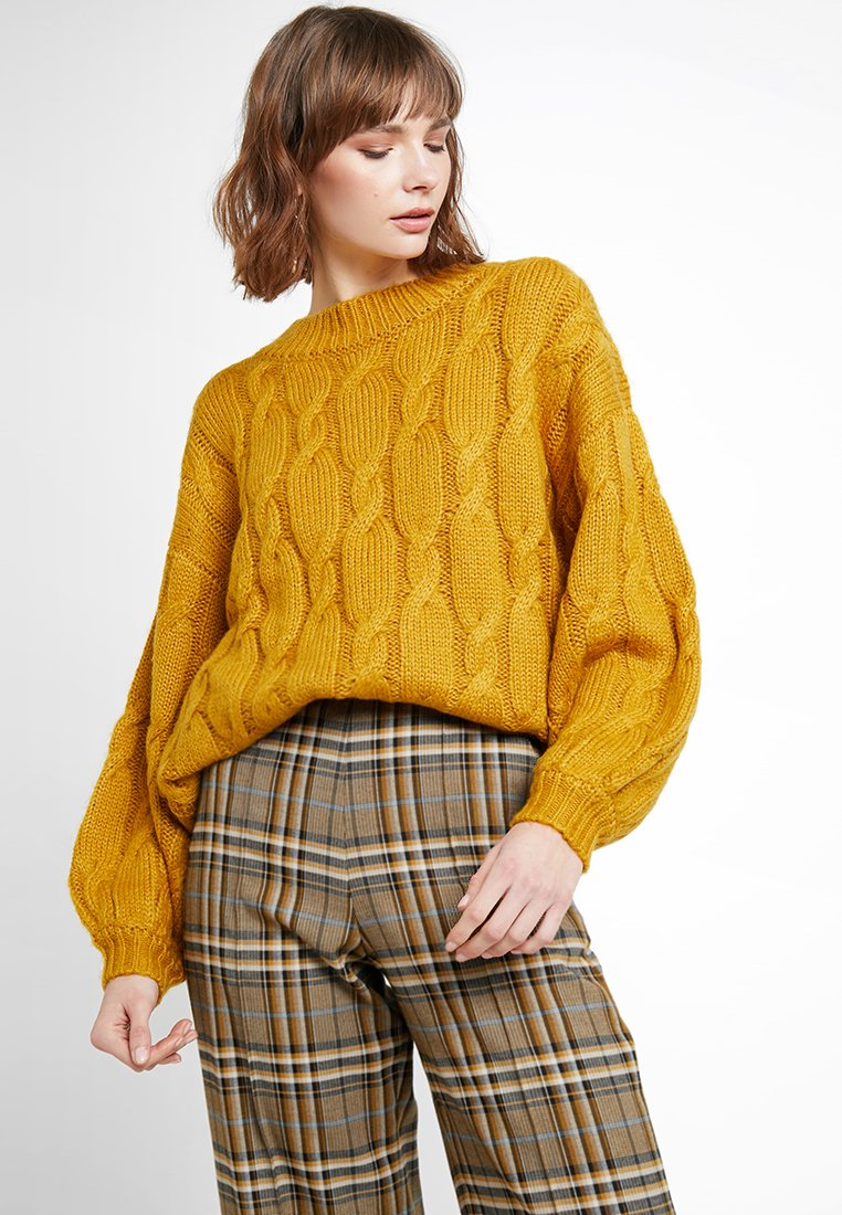 Native Youth - THE ELIZA JUMPER - Strickpullover - mustard