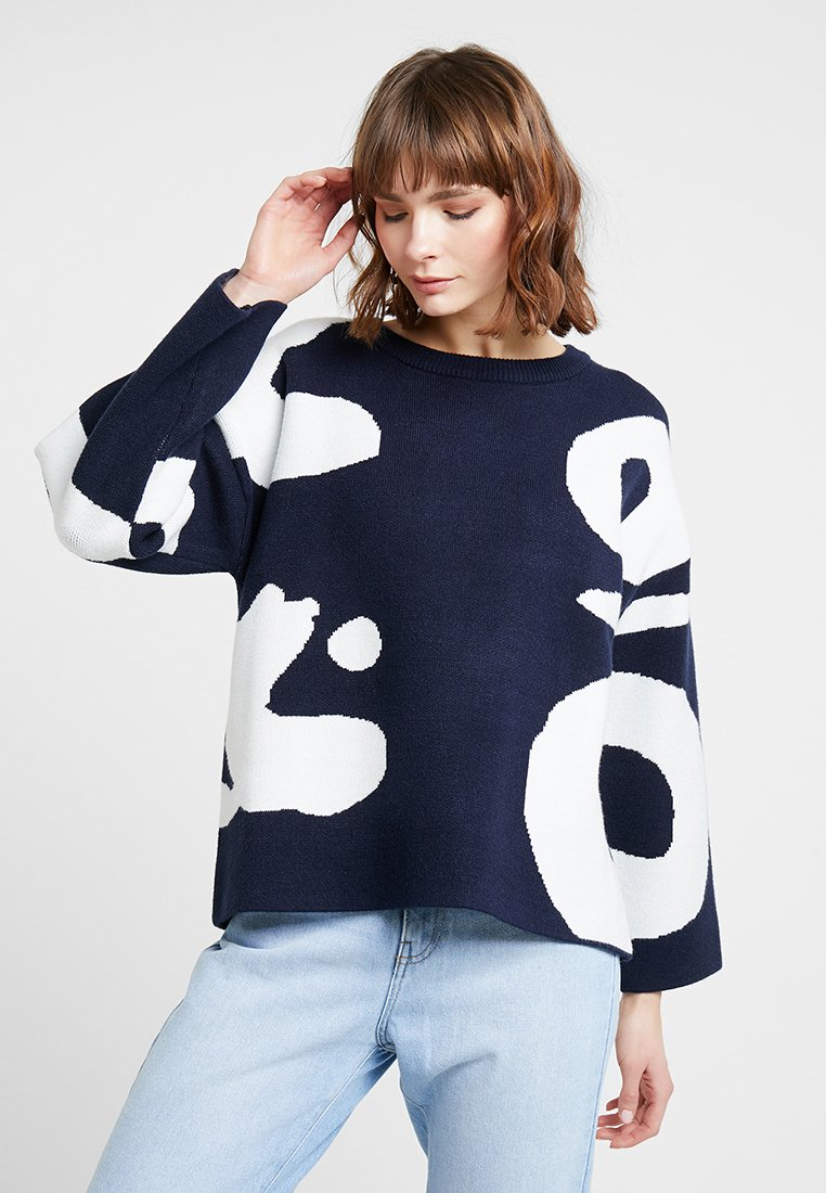 Native Youth - THE MARISSA - Strickpullover - navy/white