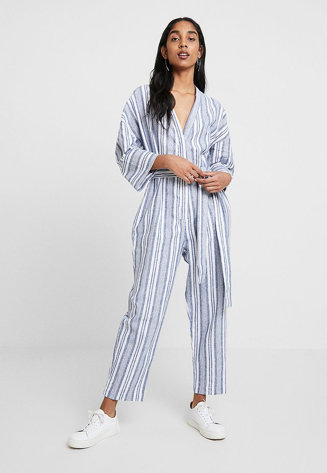 THE SOLANA - Overall / Jumpsuit - blue/white