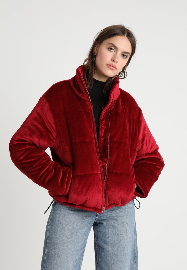 Native Youth - MOJO PLUSH PUFFER - Light jacket - burgundy