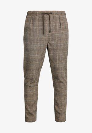 WICKER PLAID PANT - Kalhoty - brown