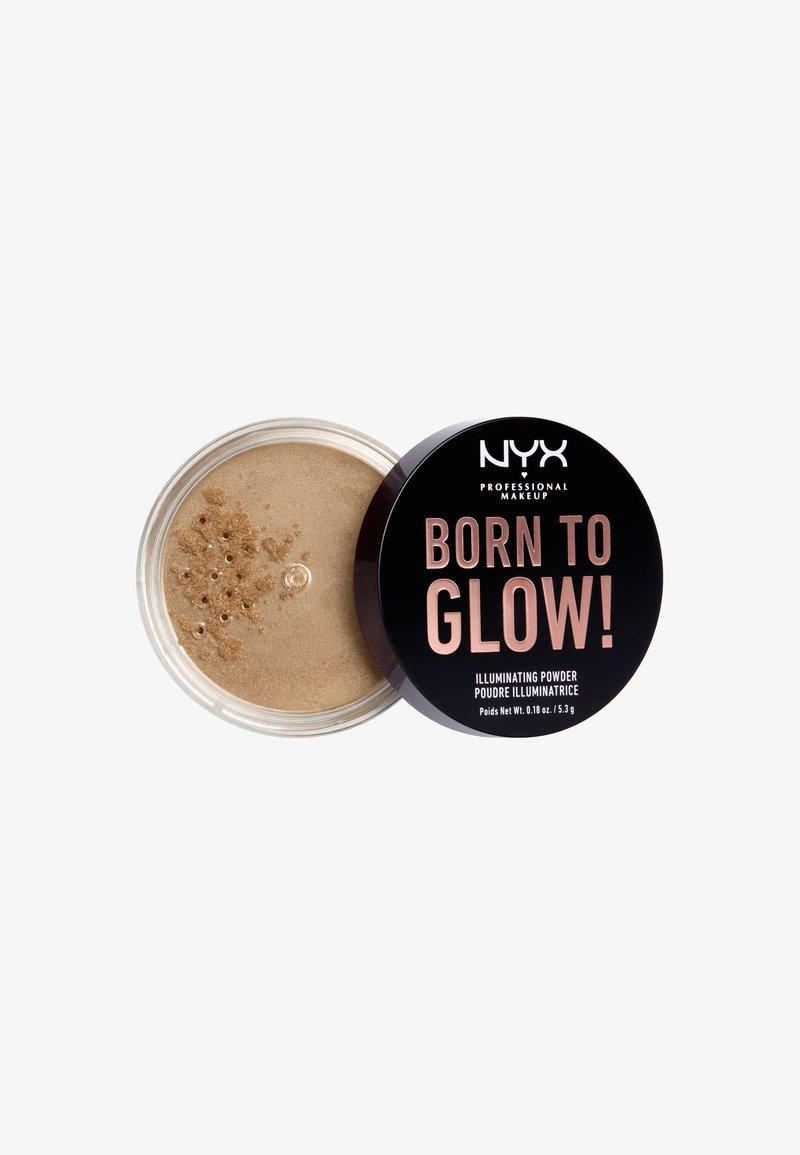 Nyx Professional Makeup - BORN TO GLOW ILLUMINATING POWDER - Powder - 3 warm strobe