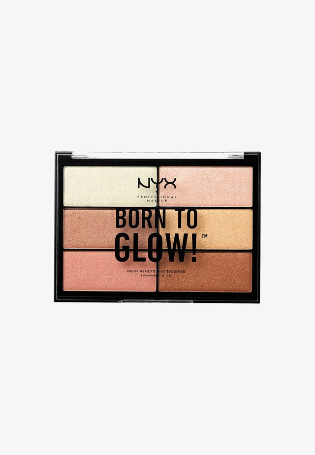 HIGHLIGHTER PALETTE BORN TO GLOW - Paleta do makijażu - -