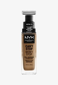 Nyx Professional Makeup - CAN´T STOP WON´T STOP 24H FOUNDATION - Foundation - neutral tan - 0