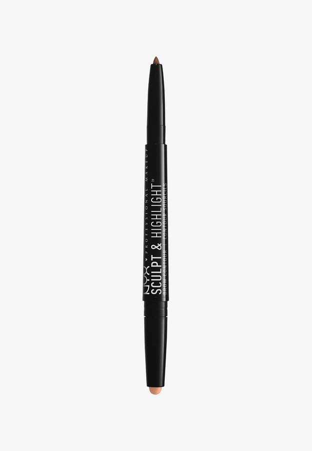 SCULPT & HIGHLIGHT BROW CONTOUR - Augenbrauenstift - 3 soft brown/rose
