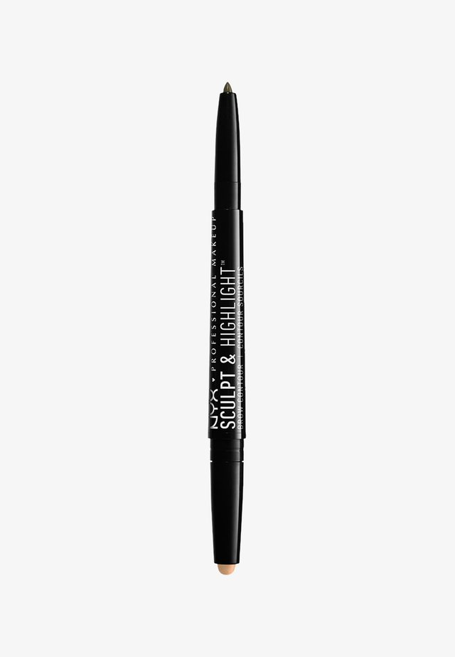 SCULPT & HIGHLIGHT BROW CONTOUR - Augenbrauenstift - 7 ash brown/medium beige
