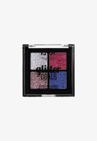 Nyx Professional Makeup - GLITTER GOALS CREAM QUAD PALETTE - Eyeshadow palette - 3 love on top - 0