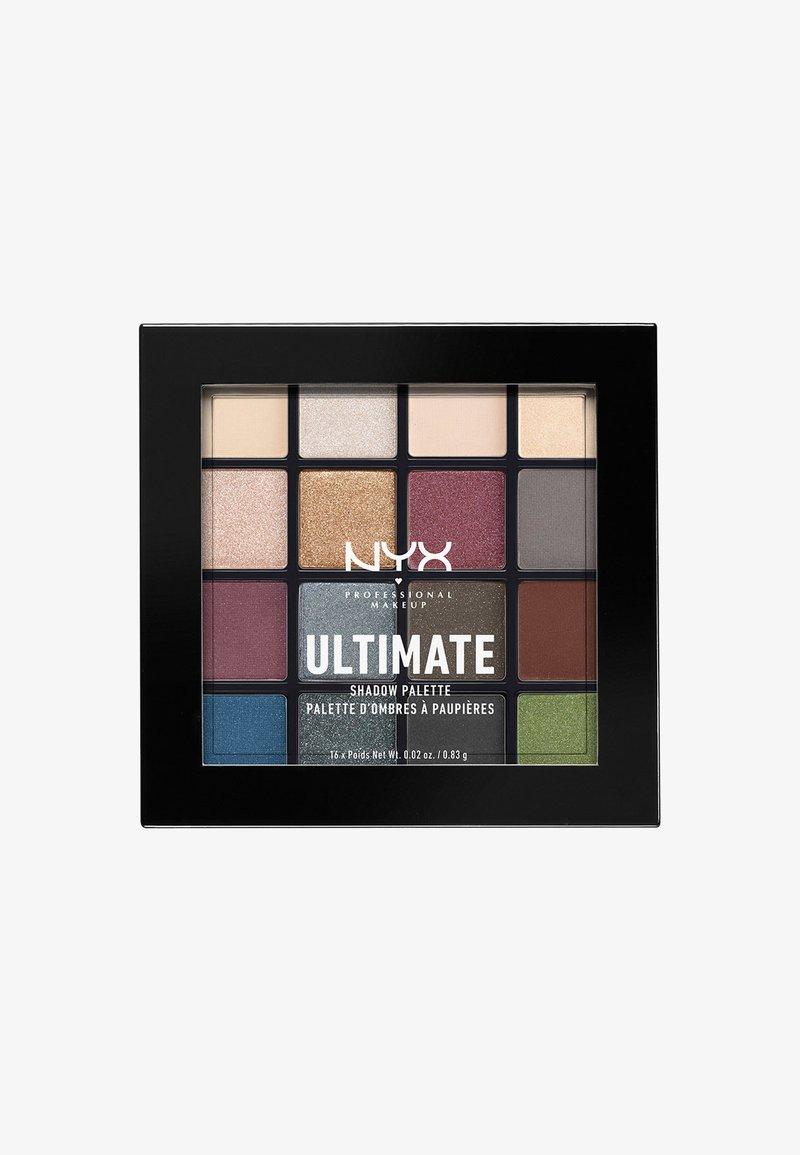 Nyx Professional Makeup - ULTIMATE SHADOW PALETTE - Paleta cieni - 1 smokey