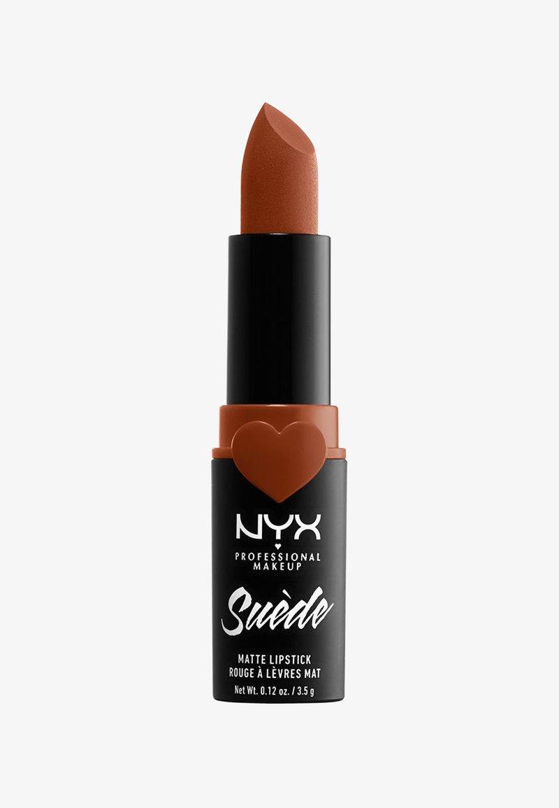 Nyx Professional Makeup - SUEDE MATTE LIPSTICK - Lippenstift - 8 peach don't kill my vibe