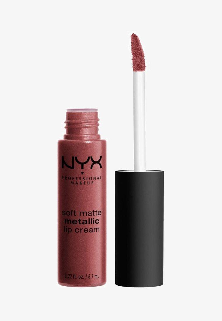 Nyx Professional Makeup - SOFT MATTE METALLIC LIP CREAM - Lip gloss - 9 rome