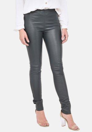 Pantalon en cuir - teal blue