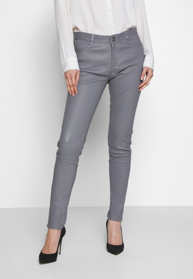 Leather trousers - grey