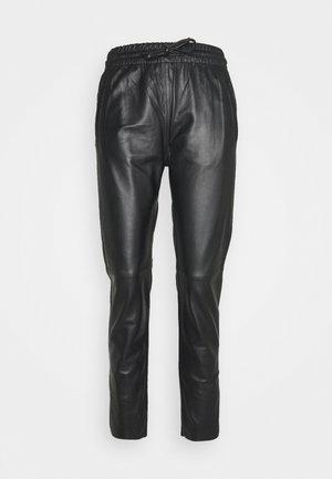 GIFT - Pantaloni di pelle - black